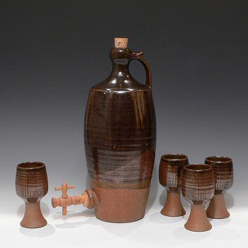 Roger Cockram - Early Mead Set - Jar with 6 vessels